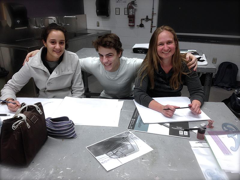 Lab en compagnie de Julia Santos, et Michael Doyon, collègues du programme