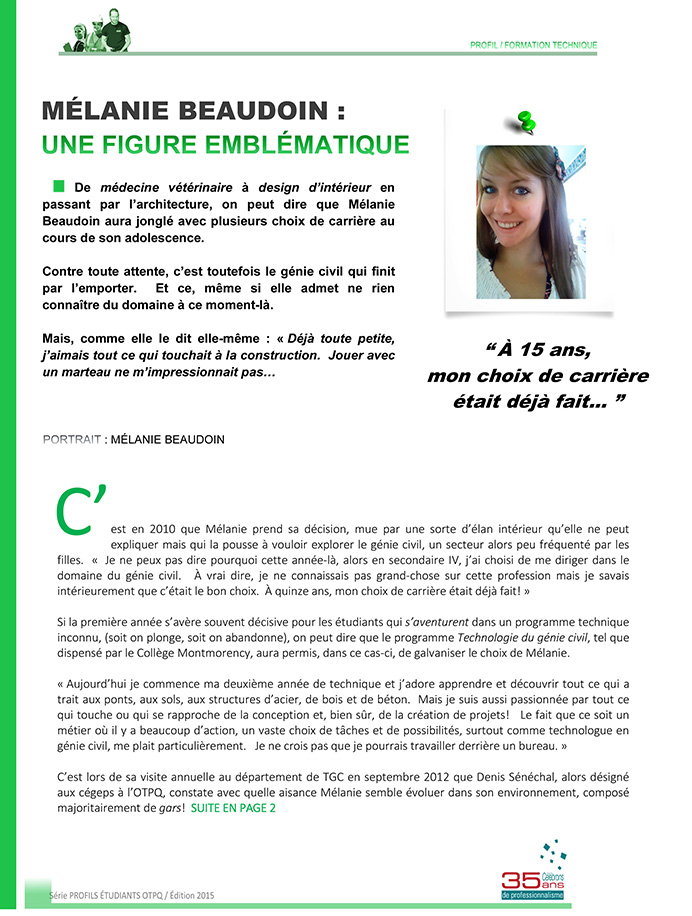DEC Techniques du Génie Civil au Cégep   Cégep Trois-Rivières