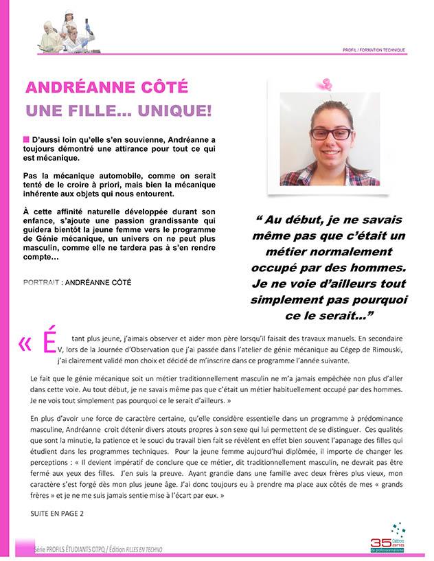 PORTRAIT ANDRÉANNE CÔTÉ